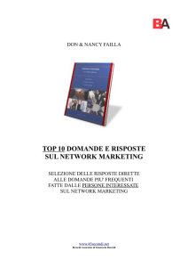 TOP 10 DOMANDE E RISPOSTE SUL NETWORK MARKETING