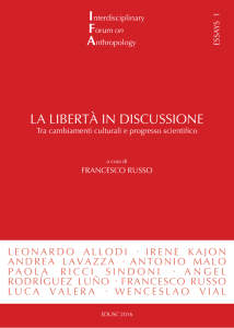la libertà in discussione - Interdisciplinary Forum on Anthropology