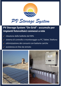 PV Storage System On Grid - accumulo per impianti