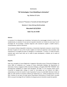 "Seminario: ""3D Technologies: From Modelling to Animation"" Ing"