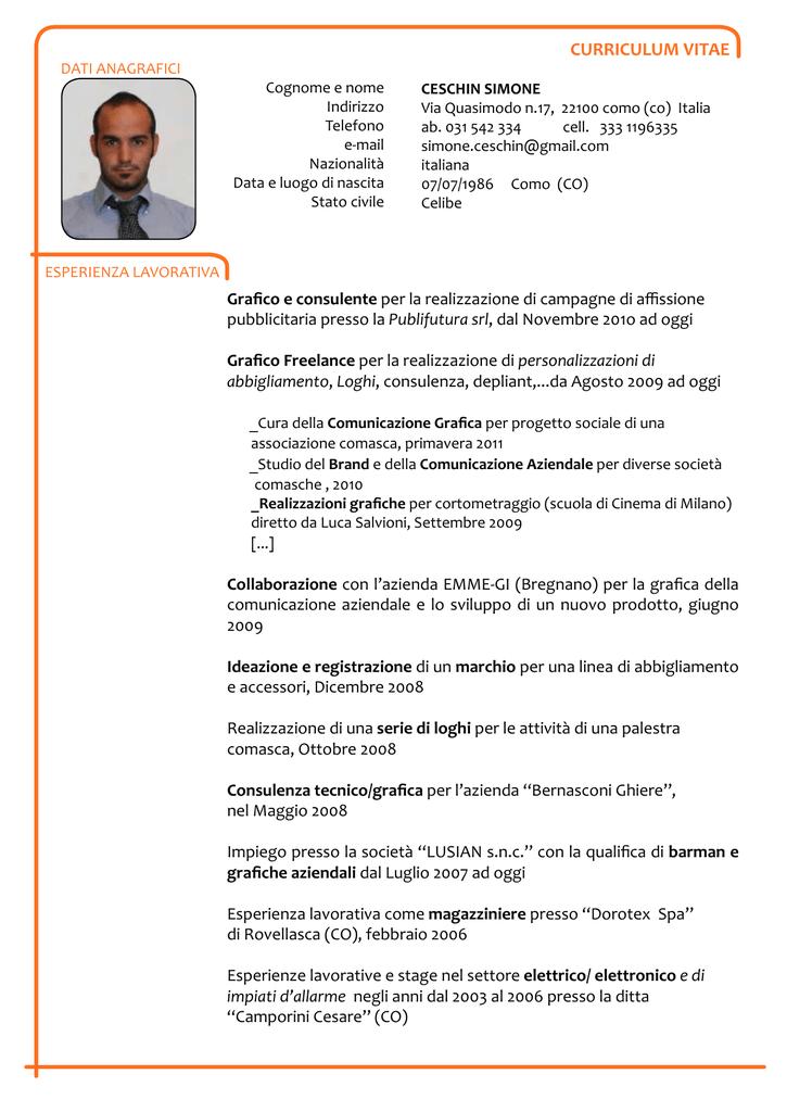 Curriculum Vitae Itis Magistri Cumacini