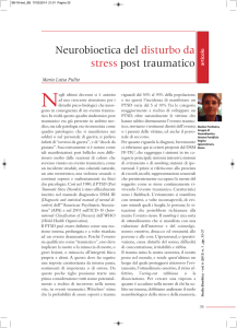 Neurobioetica del disturbo da stress post traumatico