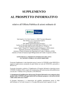 Supplemento al prospetto informativo