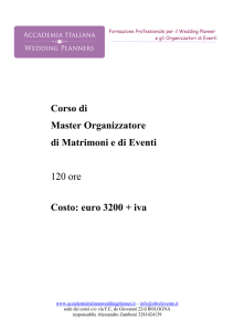 master wp 2017 - Accademia Italiana Wedding Planners