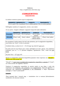 congiuntivo - subjunctive - English Class