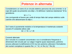 Potenze in alternata