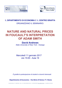 nature and natural prices in foucault`s interpretation of adam smith