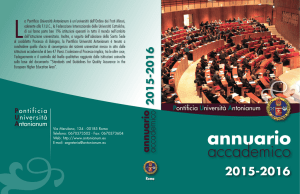 Annuario accademico 2015-2016 - Pontificia Università Antonianum