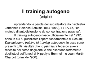 Origini del training autogeno