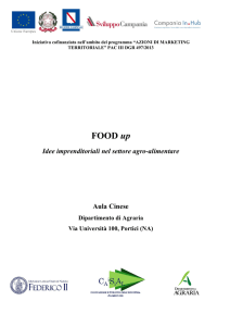 FOOD up - Dipartimento di Agraria