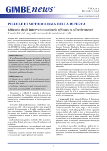 Efficacia degli interventi sanitari: efficacy o effectiveness