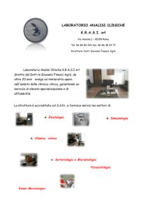 LABORATORIO ANALISI CLINICHE KRASI srl