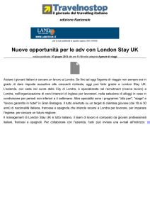 Nuove opportunità per le adv con London Stay UK