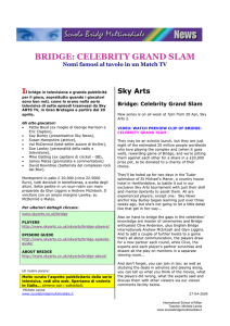 bridge: celebrity grand slam