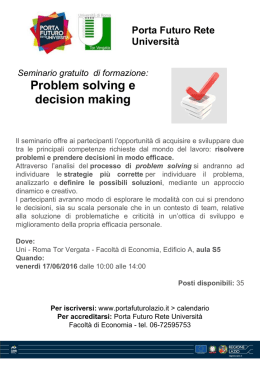 Problem solving e decision making