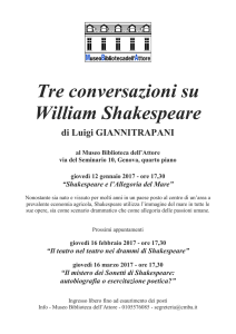 Tre conversazioni su William Shakespeare