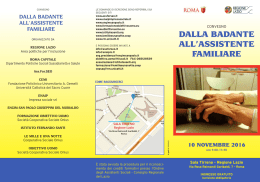 dalla badante all`assistente familiare