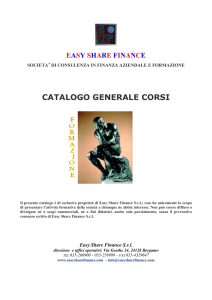 Catalogo dei corsi - Easy Share Finance