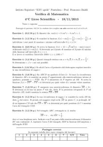 Verifica di Matematica 4aC Liceo Scientifico