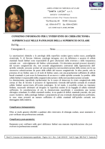 Mod. 51 Consenso inf. cheratectomia superficiale