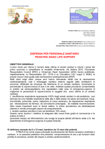 DISPENSA PER PERSONALE SANITARIO PEDIATRIC BASIC LIFE