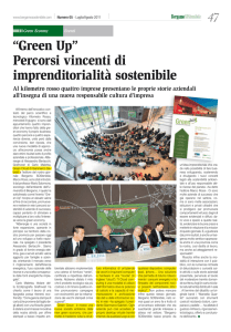 """Green Up"" Percorsi vincenti di imprenditorialità"