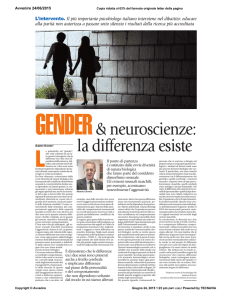 Gender e neuroscienze: la differenza esiste
