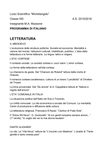 letteratura - Liceo Scientifico Michelangelo