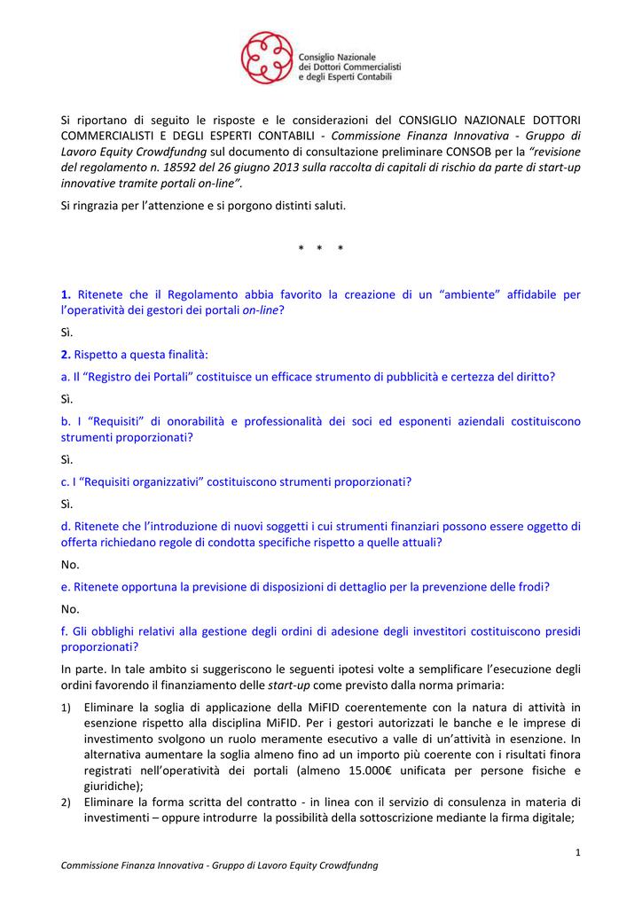 investitori professionali regolamento consob
