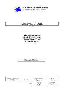 manuale utente - SCS - Static Control Systems