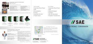 Brochure generale Sae - SAE Electronic Conversion