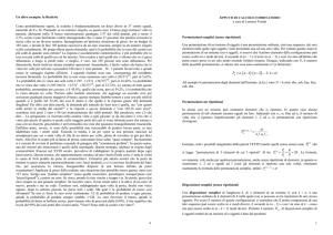 appunti di calcolo combinatorio