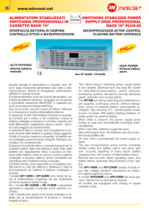 alimentatori stabilizzati switching professionali in