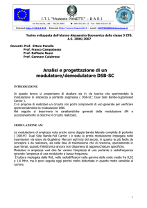Modulatore e Demodulatore DSB