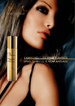 l`abbronzatura spray è antietà spray tanning is now anti