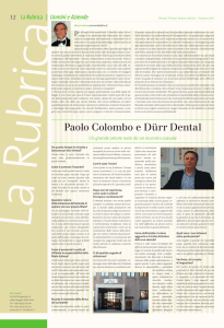 Paolo Colombo e Dürr Dental - Dental Tribune International