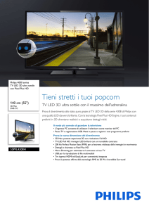 55PFL4308H/12 Philips TV LED 3D ultra sottile con Pixel Plus HD