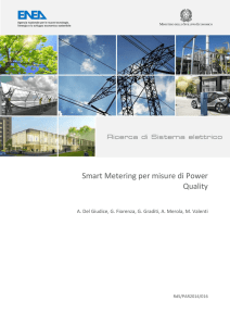 Smart Metering per misure di Power Quality