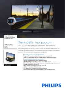 46PFL4308H/12 Philips TV LED 3D ultra sottile con Pixel Plus HD
