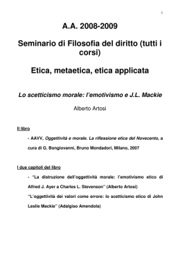 Etica, metaetica, etica applicata