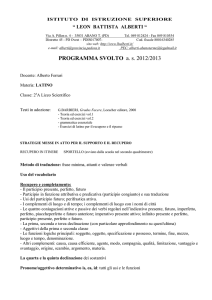 PROGRAMMA SVOLTO as 2012/2013