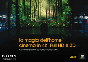 la magia dell`home cinema in 4K, Full HD e 3D