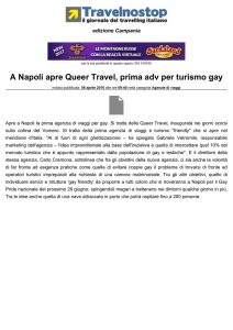 A Napoli apre Queer Travel, prima adv per turismo gay