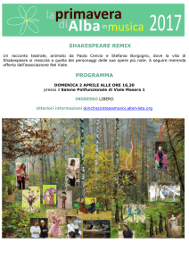 SHAKESPEARE REMIX PROGRAMMA