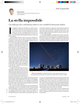 La stella impossibile