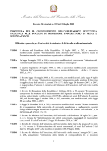 procedura per il conseguimento dell`abilitazione scientifica