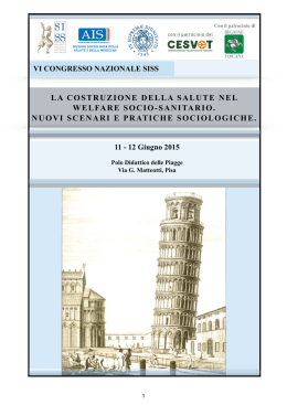 Abstract - Sociologia della Salute