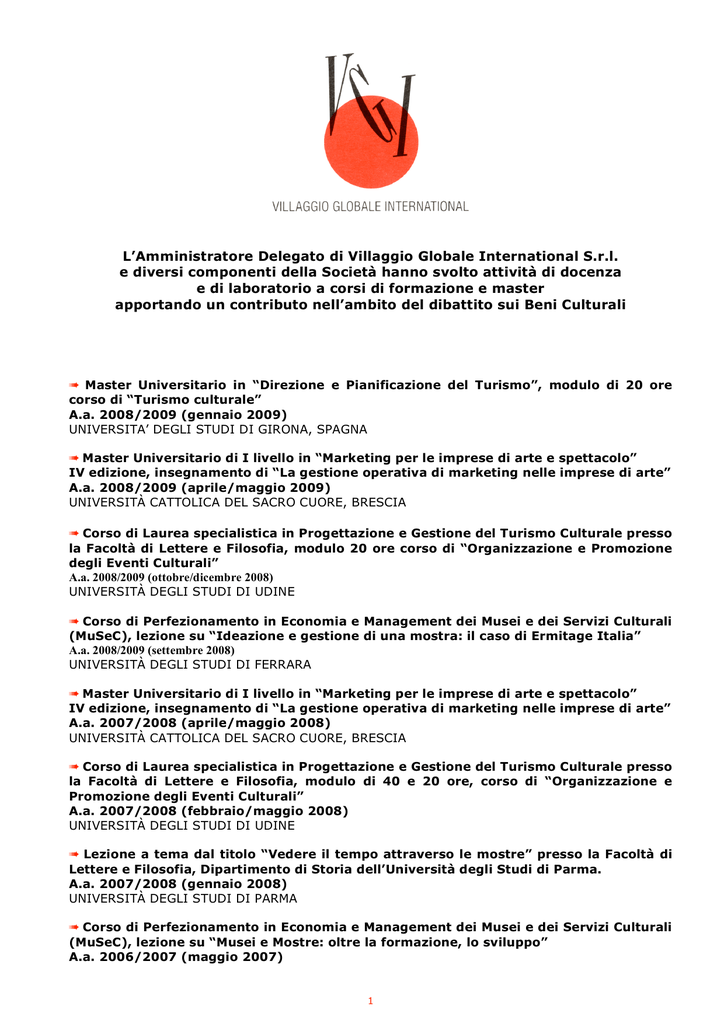 MASTER (PDF file - 241 Kb) - Villaggio Globale International a55c2e8dc401