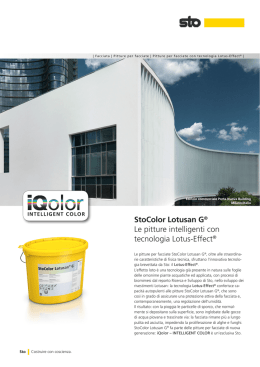 StoColor Lotusan G® Le pitture intelligenti con tecnologia Lotus