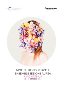 MOTUS | HENRY PURCELL ENSEMBLE SEZIONE AUREA KING